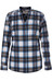Royal Robbins Merinolux Plaid overhemd en blouse lange mouwen blauw/wit